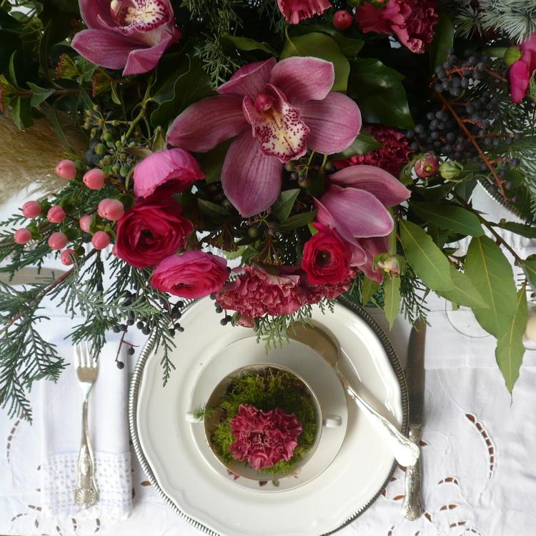 piatto fiori